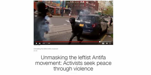antifa peace through violence